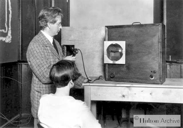 John Logie Baird demonstrating
