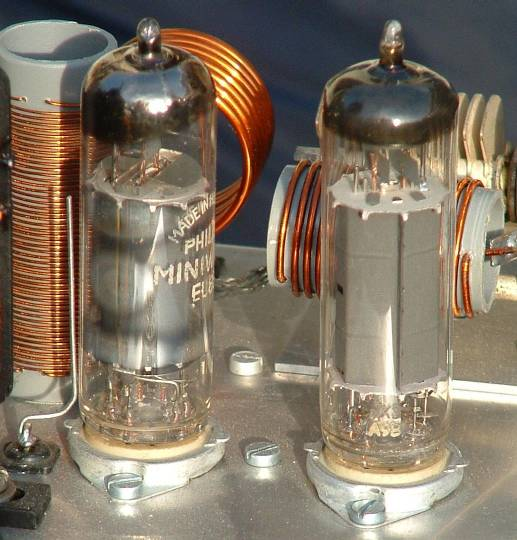 Two power-type electron tubes